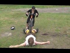 Balls Runover By Bike