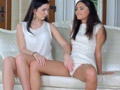 Kittina Cox and Shrima Malati in First time lesbian scene by Sapphic Erotic