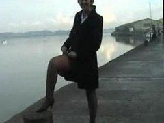 Sara a stroll on the quayside