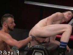 Amateur black male fisting gay Aiden Woods is on his back and wails to