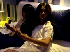 hairjob video 117 --twins sisters's hairjob