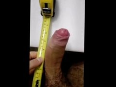 Danish Twink Boy Jonas masturbate until cum & measuring my cock on 18-19cm