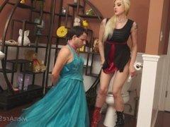 femdom toilet slave part 2