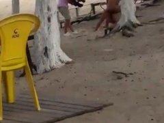 Gravando porno na praia do Recreio