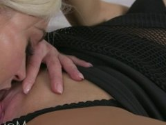 MOM Pussy eating blondes in high heels