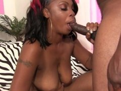 Ebony babe Kandy Rey loving a big black cock fucking