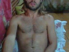 Hot brazilian rastaman cumming on his hairy chest