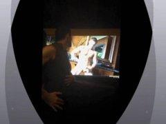 Jamesxxx7x jerks his big cock while watching gay porn star Darius Ferdynand