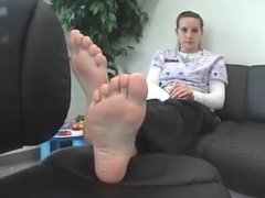 Girl takes a break to show her feet
