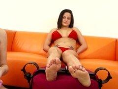 Charity Bangs - Feet Tickling