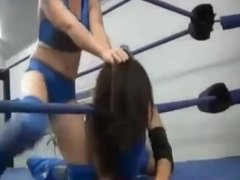 Hair pulling wrestling girls