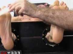 Guys feet video free gay first time Cristian Tickled In The Tickle Chair