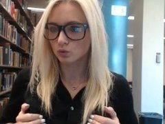 Haley Ryder - Public Library Hidden Cam Part 3