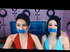 2 Girl Webcam Tape Gag