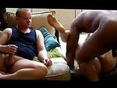 Creampie Hubby gerade seine WIFE gefickt von einem BLACK COCK