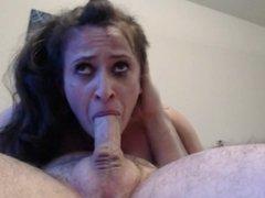 Husband's throatfuck training me (he says I can do better)