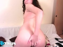 Girl Next Door Plays With Her Ass and Sweet Tight Pussy