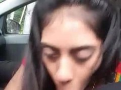 Indian Wife Blowjob in Car