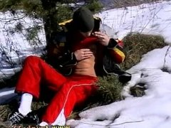 Smooth asian teen gay sex first time Roma Smokes In The Snow