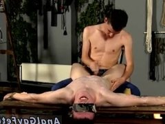Long hair high school gay twink xxx The red-hot wax on his mild bod has