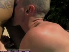 Gay twink kiss Daddy Poolside Prick Loving