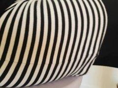 striped skirt legging