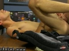 Male gay sex orgasm Dustin Cooper's taking a nap in an empty classroom,