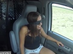 Brunette teen cowgirl Engine failure in the middle of nowhere in a no