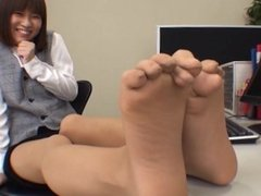 Japanese foot tickle