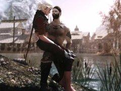 Ulfhof and Ciri in the Rift PART 2 (Skyrim)