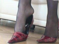 Nicole Black Nylon Feet & Heels