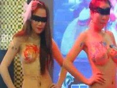 asian girl bodypaint art1