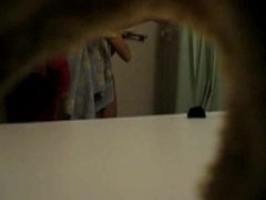 Spycam on hairy sister in the shower