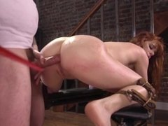 Hard Ass Fuck And Pussy Fisting In Bondage