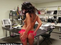RealGfsExposed - Masturbating on her desk makes her extra horny