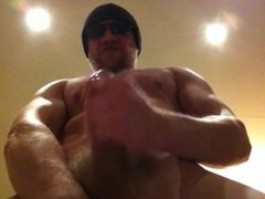 Worship this big muscle stud with his huge cock!