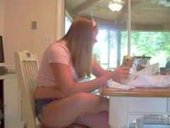 Cute Chubby girl stuffing