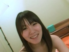 Small tits Japanese teen rides cock and gets pussy filled with cum