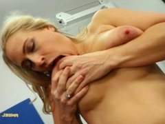 BigBoob MILF Gets Extra Horny In The Gym And Give Pussy A Workout - Angel
