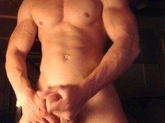 Hungarian muscle boy cums