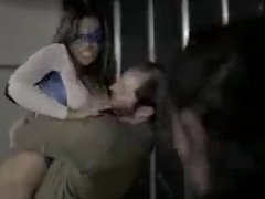 Superheroine Bearhugged Twice