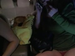 Sexxxysaddie and tiffysue4you double car fun