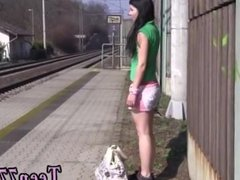 Teen jerk off encouragement hd and get fingered outdoor and public