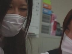 Office Ladies with mask