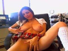 Hot Schoolgirl Masturbating