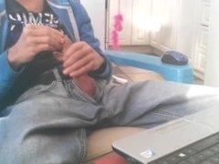 Jeans wank #9