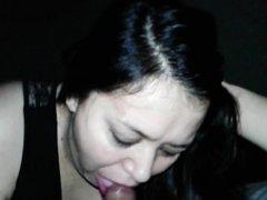 Pregnant Wife sucks dick