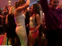 Amateur euro babes sucking cock at party