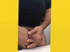 Hispanic Male Measuring His Cock