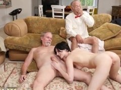 Old man eats girls pussy and rough old men and old mom young cock and old